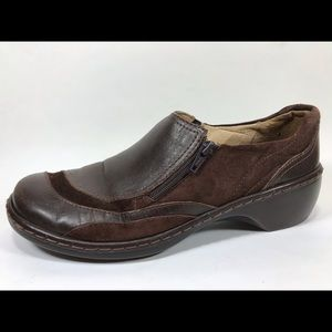 Clarks Artisan Leather Zip Loafers Women's 7M